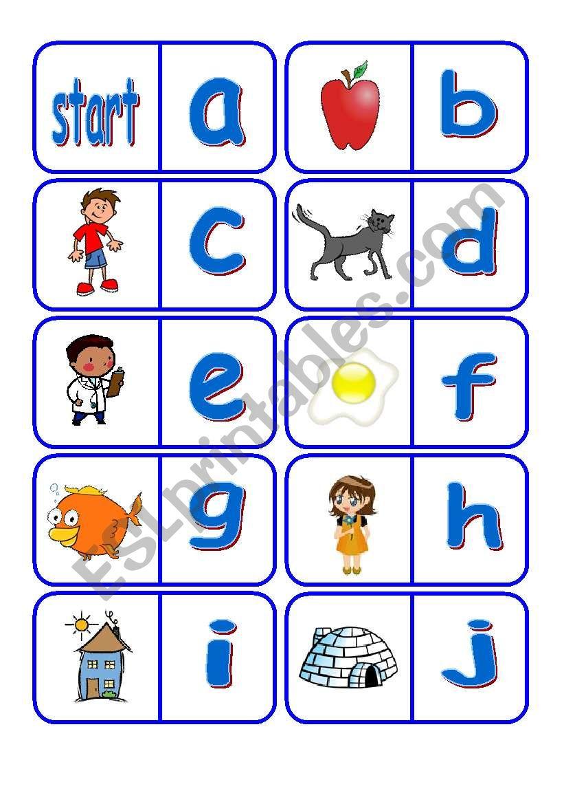 Alphabet Dominoes - Esl Worksheetfleur within Alphabet Domino Worksheets