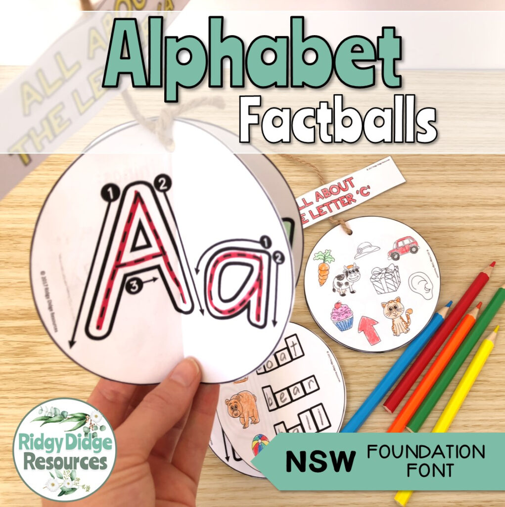 Alphabet Factball Craftivity Nsw Foundation Font With Regard To Name Tracing Template Nsw Font