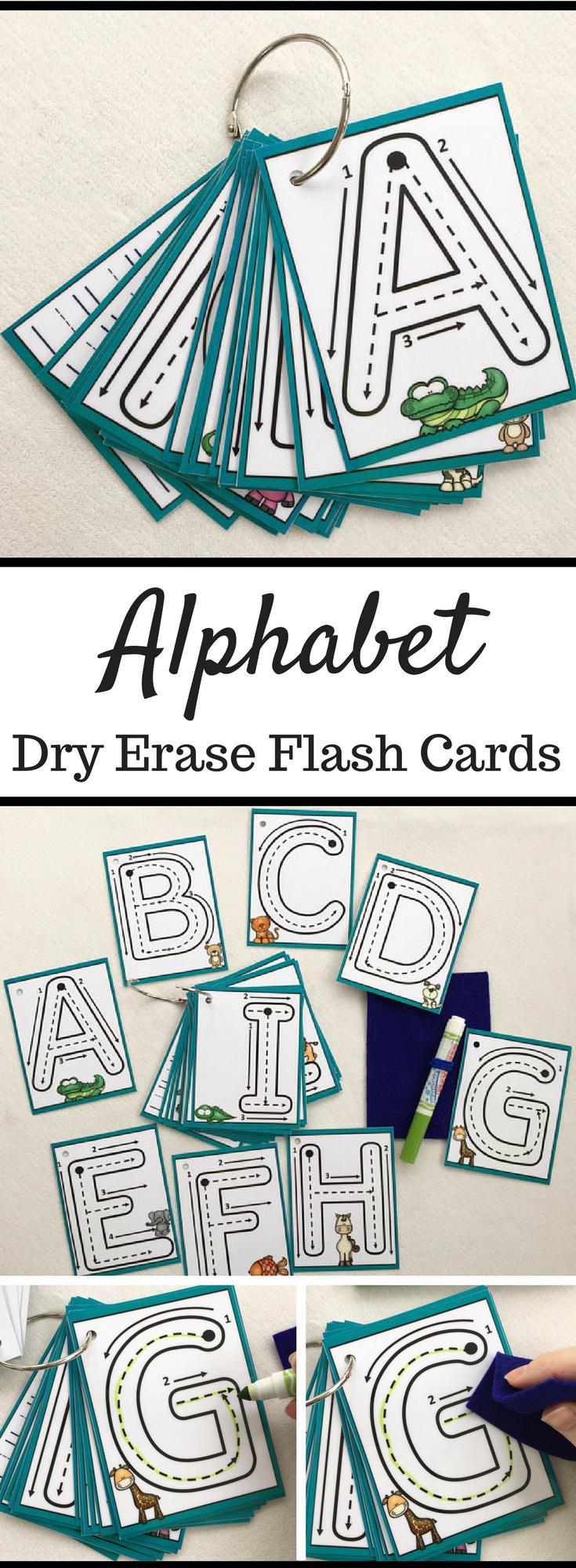 Alphabet Flash Cards | Dry Erase Alphabet Cards | Trace And for Alphabet Tracing Flashcards