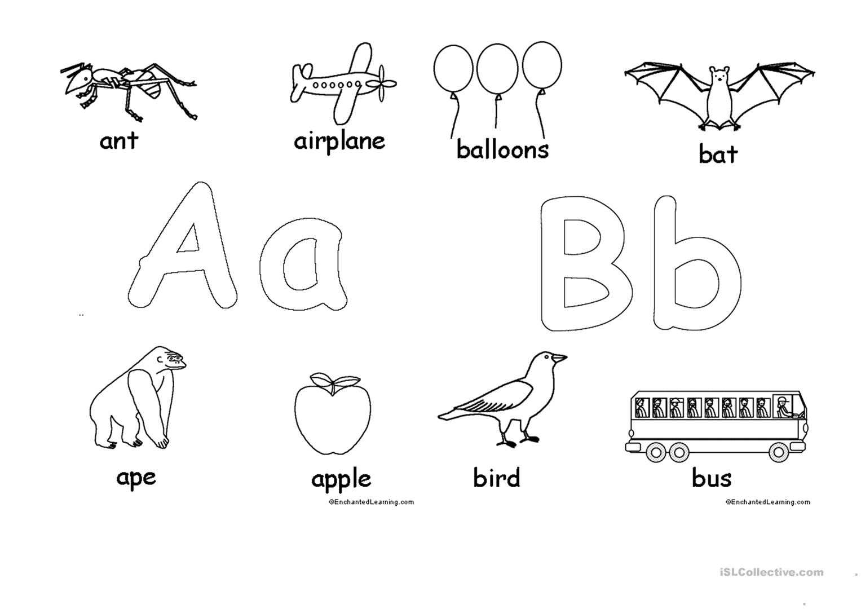 Alphabet For Coloring - English Esl Worksheets For Distance pertaining to Alphabet Worksheets To Color
