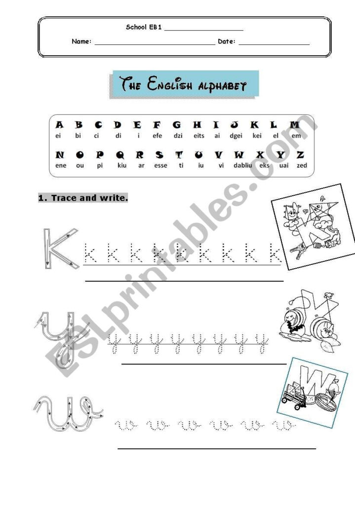 Alphabet For Young Learners   Esl Worksheetcatiahenriques Within Alphabet Worksheets For Young Learners