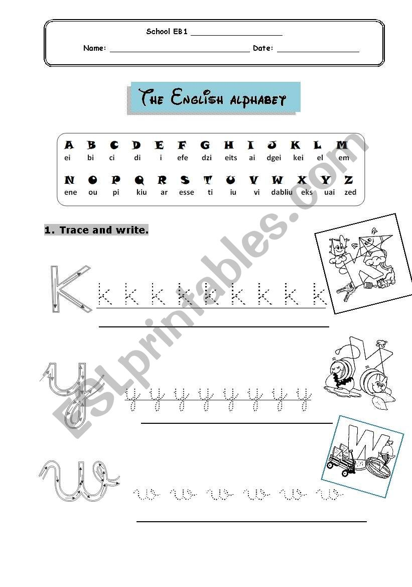 Alphabet For Young Learners - Esl Worksheetcatiahenriques within Alphabet Worksheets For Young Learners