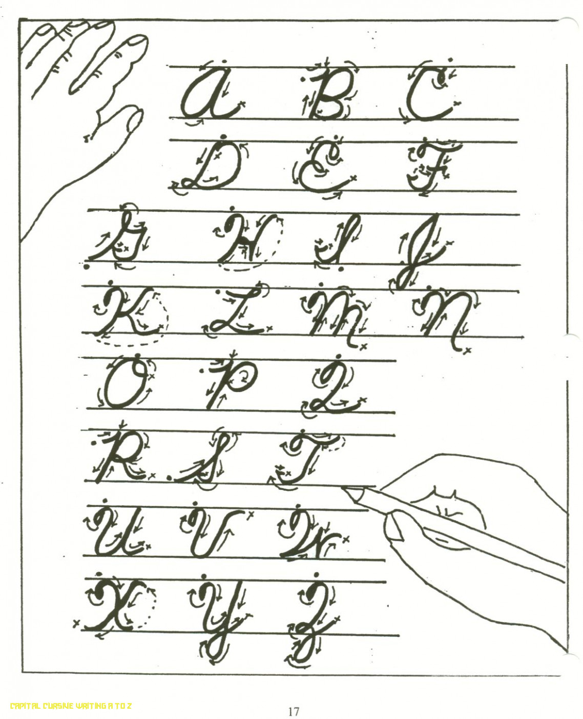 Alphabet In Cursive Handwriting – Doctorbedancing