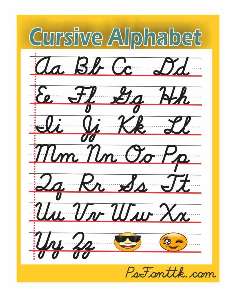 Alphabet In Cursive – Psfont Tk