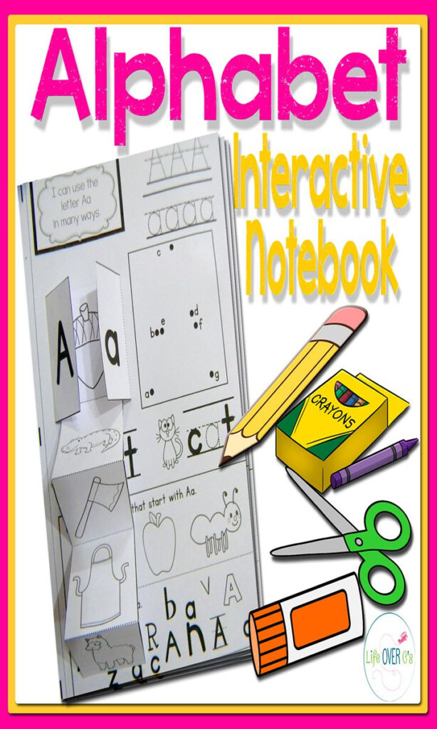 Alphabet Interactive Notebook For Letter Recognition And In Letter Tracing Interactive