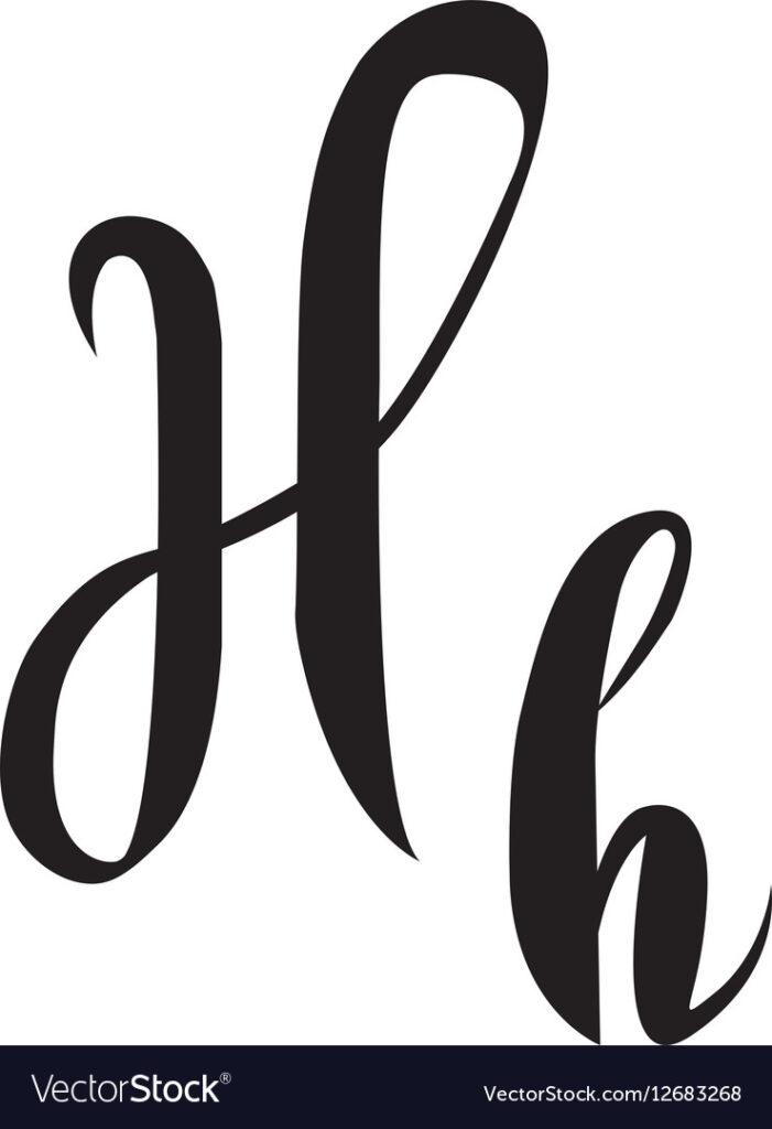 Alphabet Letter H Lettering Calligraphy Manuscript