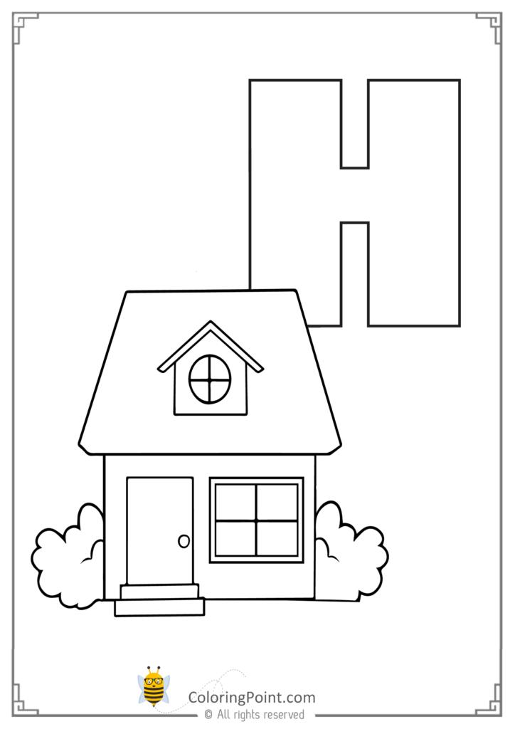Alphabet Letter H Printable Activities Coloring Page Inside Letter H Worksheets Soft School