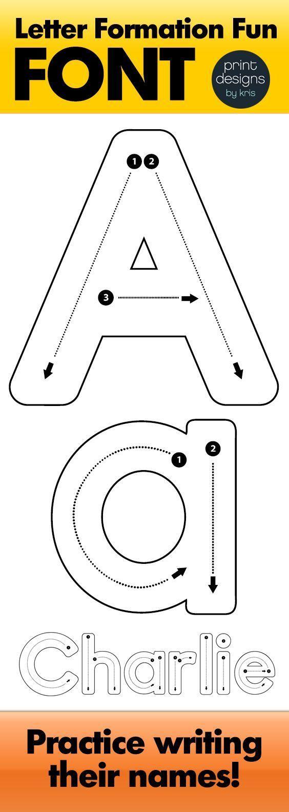 Alphabet Letter Tracing Font • Letter Formation Font with regard to Alphabet Tracing Letters Font