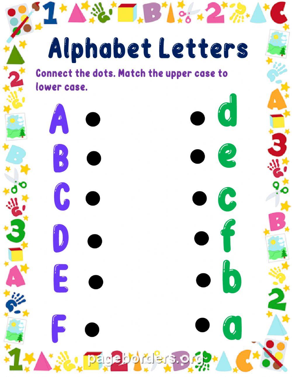 Alphabet Letters - Interactive Worksheet throughout Alphabet Reading Worksheets