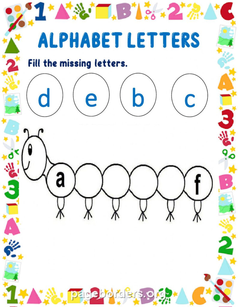 Alphabet Letters Interactive Worksheet With Regard To Alphabet Reading Worksheets