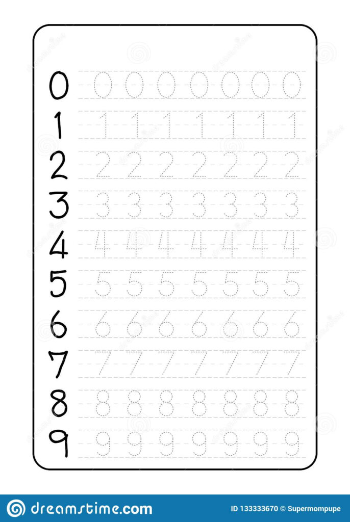 Alphabet Letters Tracing Worksheet With Number Children