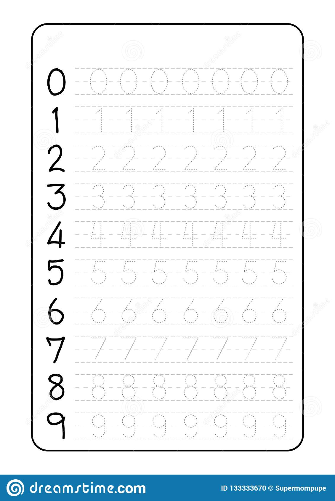 Alphabet Letters Tracing Worksheet With Number Children regarding Alphabet Tracing Sheets For Kindergarten