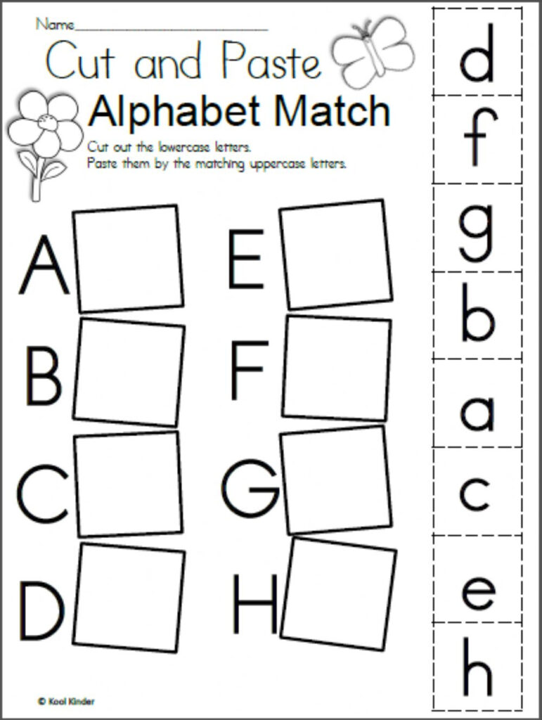 Alphabet Matching   Interactive Worksheet For Alphabet Matching Worksheets Pdf