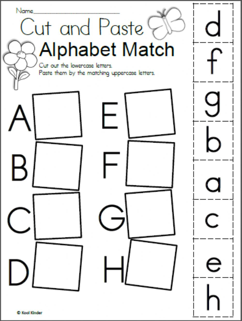 Alphabet Matching - Interactive Worksheet for Alphabet Matching Worksheets Pdf