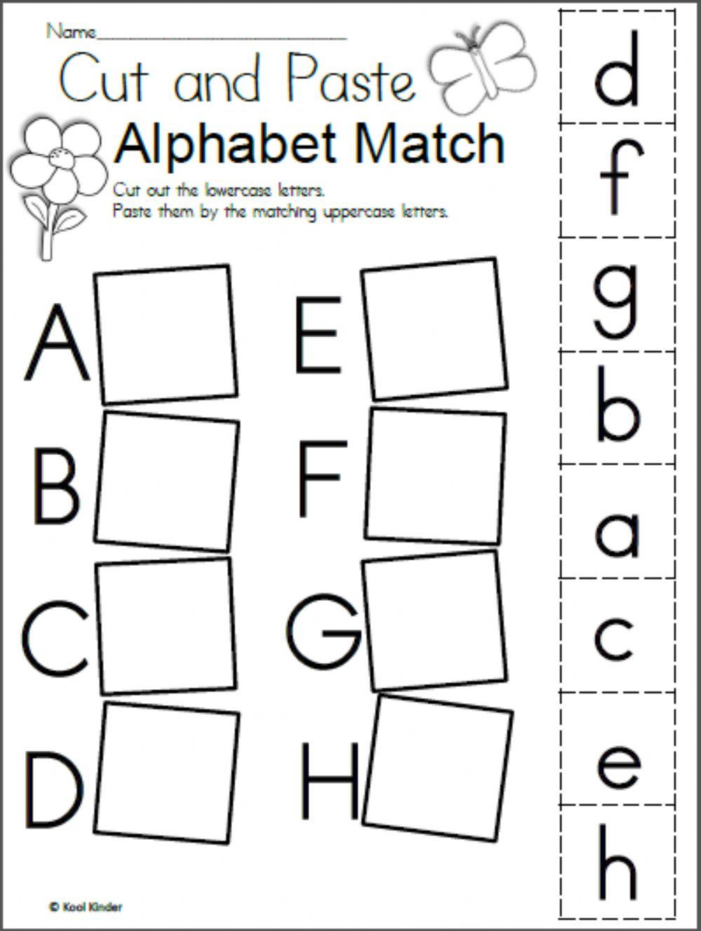 Alphabet Matching Interactive Worksheet for Alphabet Worksheets Matching