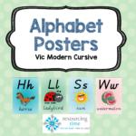 Alphabet Posters A4   Vic Modern Cursive