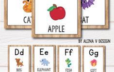 Cursive Alphabet Poster Printable