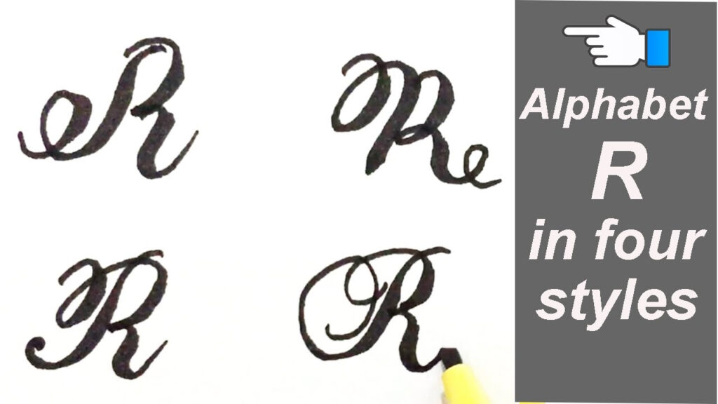 Alphabet R | Letter R In Four Styles | How To Write Stylish Capital  Alphabets Using Cut Marker