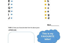 Alphabet Revision Worksheets/kindergarten