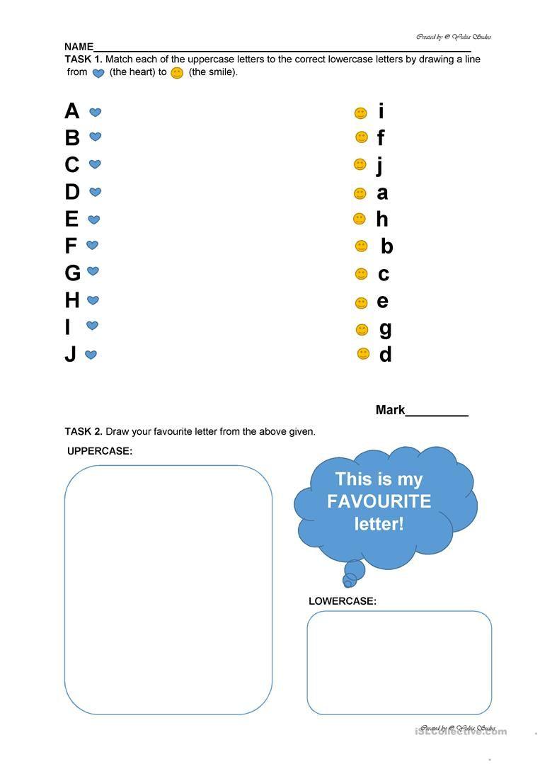 Alphabet Revision Worksheet For Preschool: From Aa To Jj intended for Alphabet Revision Worksheets/kindergarten