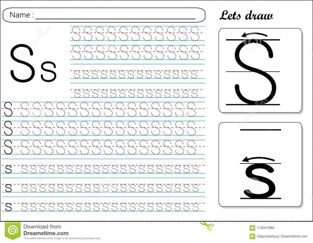 Alphabet S Tracing | Alphabetworksheetsfree regarding Alphabet Tracing Worksheets S