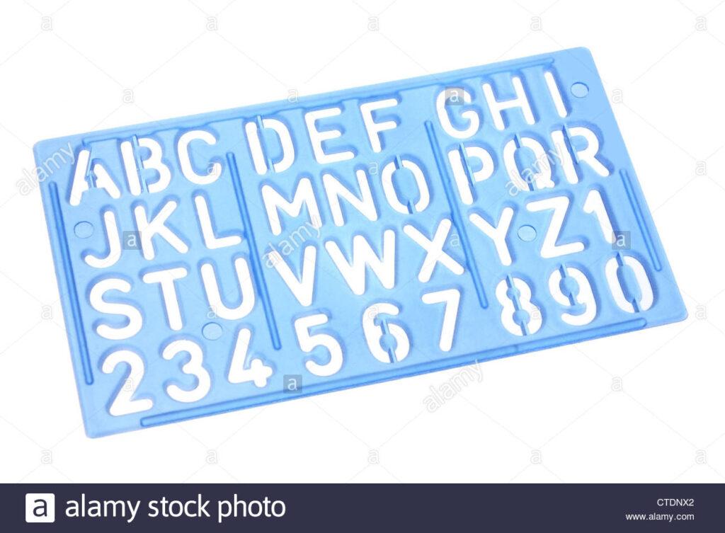 Alphabet Stencil Stock Photo   Alamy Throughout Alphabet Tracing Stencils
