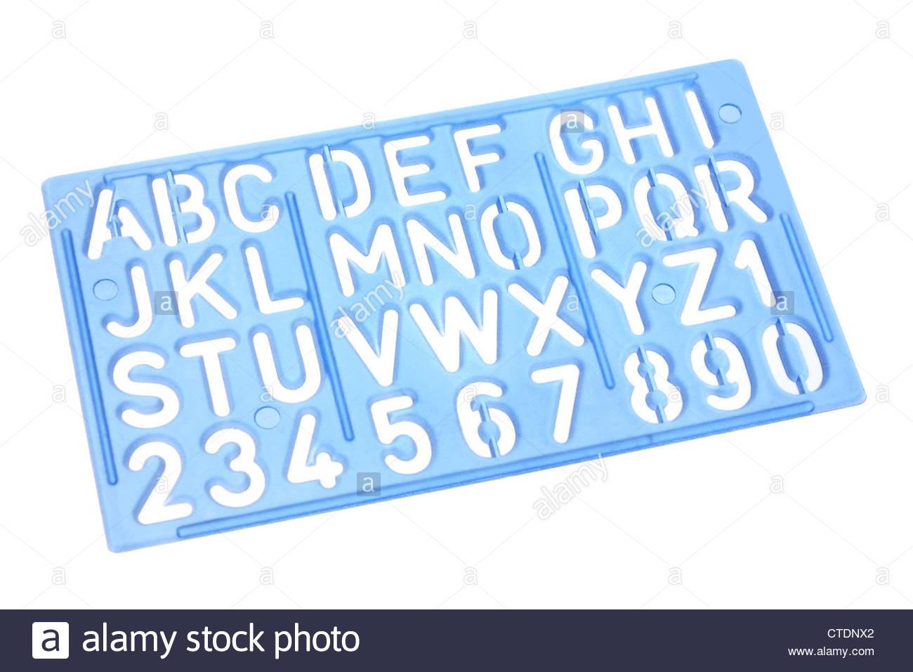 Alphabet Stencil Stock Photo - Alamy throughout Alphabet Tracing Stencils