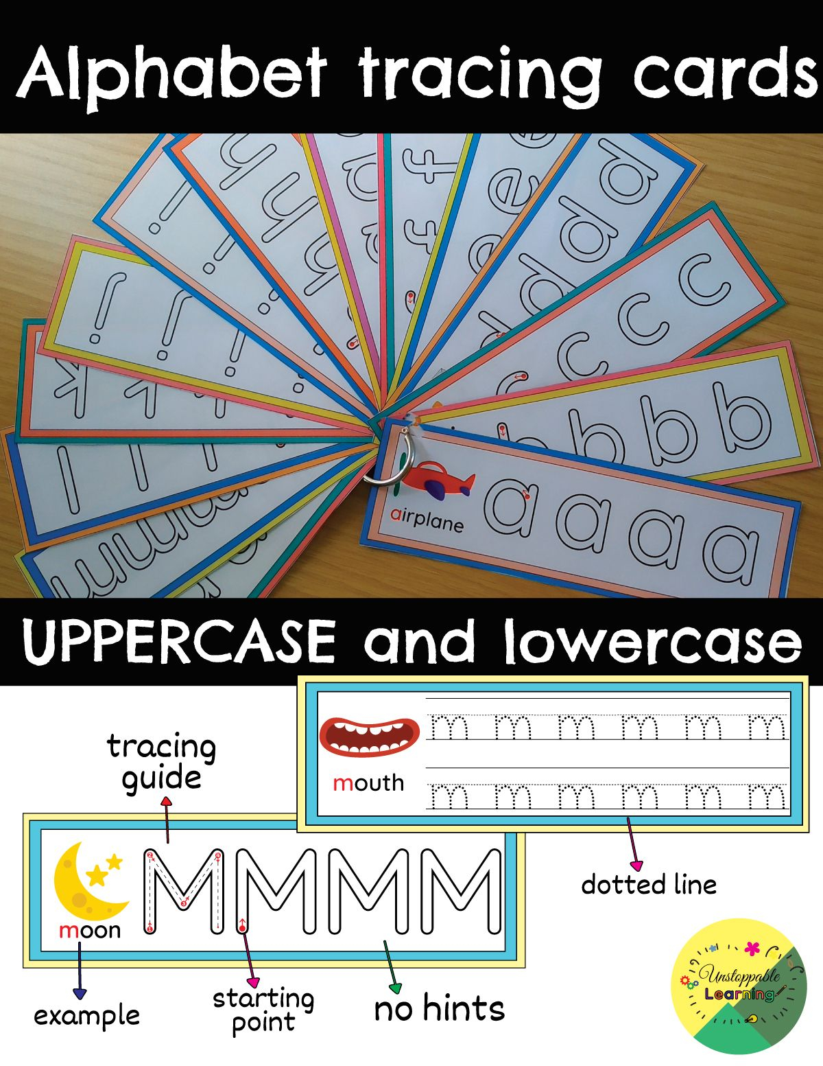 Alphabet Tracing Cards | Letter Recognition, Alphabet inside Letter Tracing Interactive