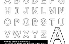 Alphabet Tracing Letters Font