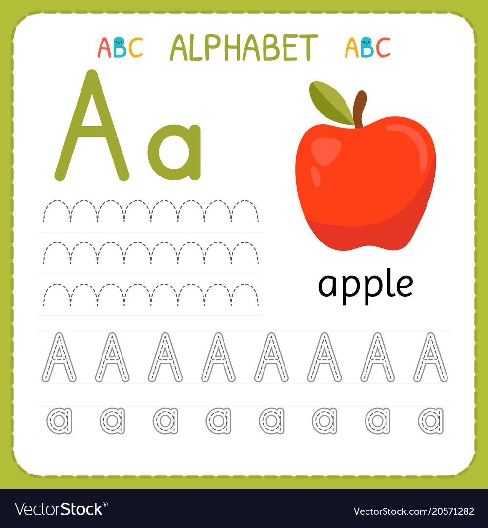Alphabet Tracing Worksheet For Preschool And in Alphabet Tracing Vectors