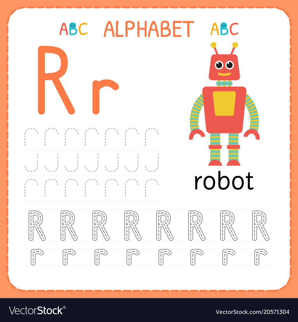 Alphabet Tracing Worksheet For Preschool And inside Alphabet Tracing Vectors