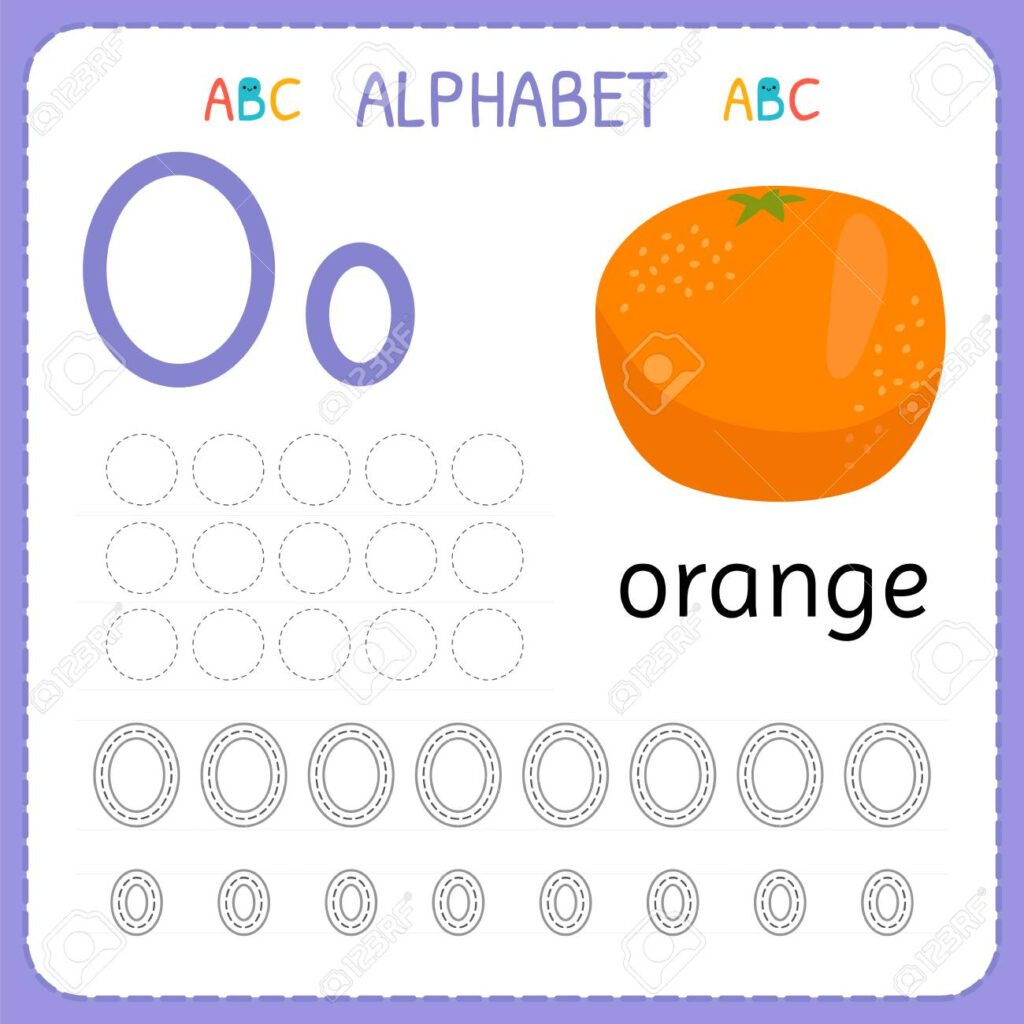 Alphabet Tracing Worksheet For Preschool And Kindergarten. Writing.. Within Alphabet Tracing Vectors