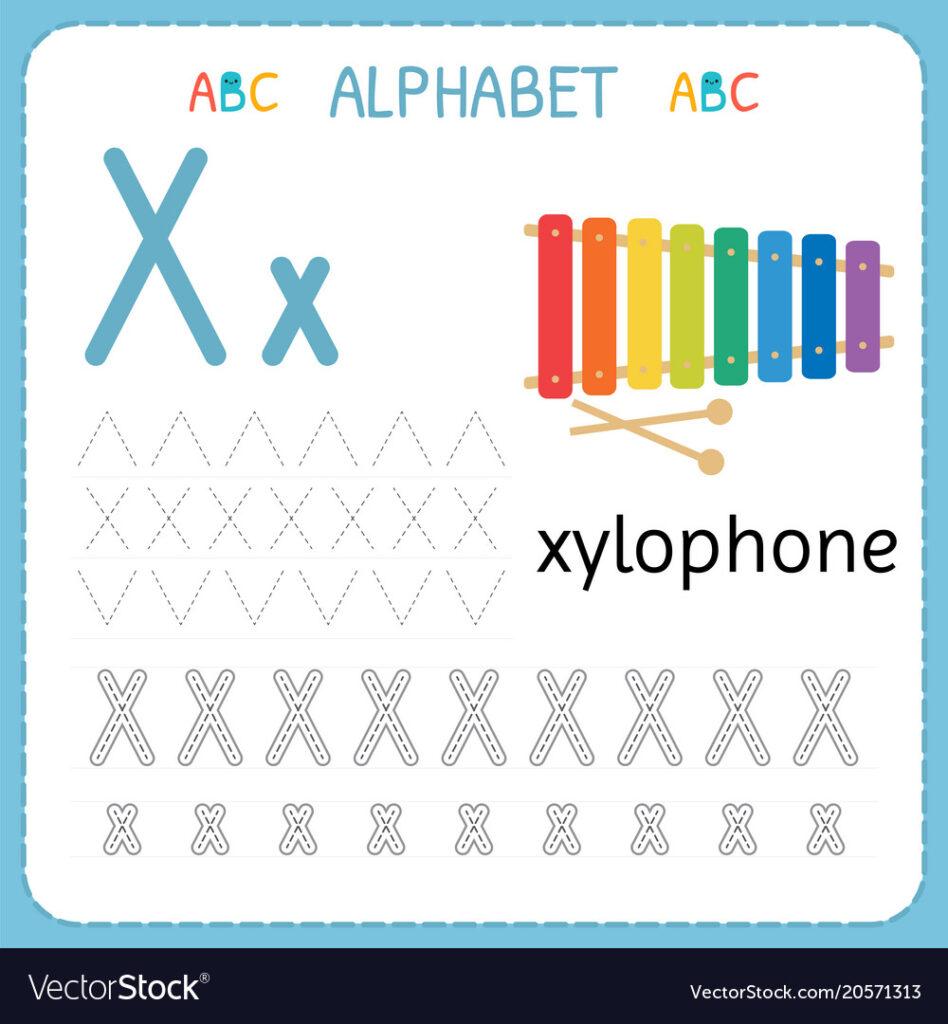 Alphabet Tracing Worksheet For Preschool And Regarding Alphabet Tracing Vectors