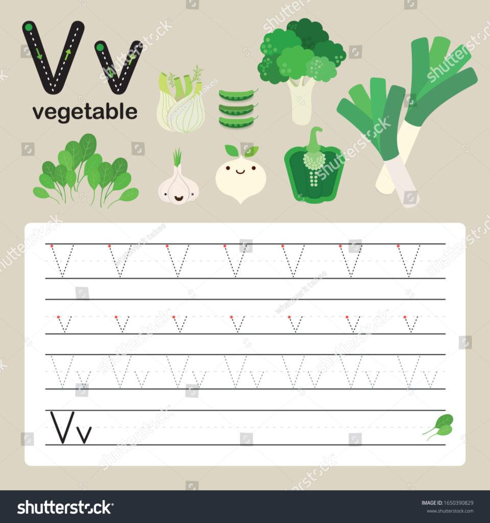 Alphabet Tracing Worksheet Preschool Kindergarten Improve