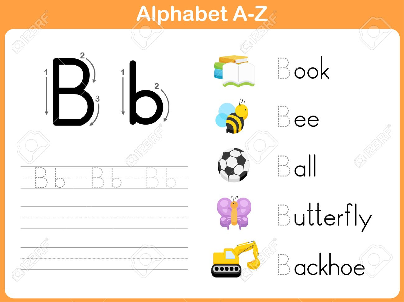 Alphabet Tracing Worksheet: Writing A-Z intended for Alphabet Worksheets A Z With Pictures