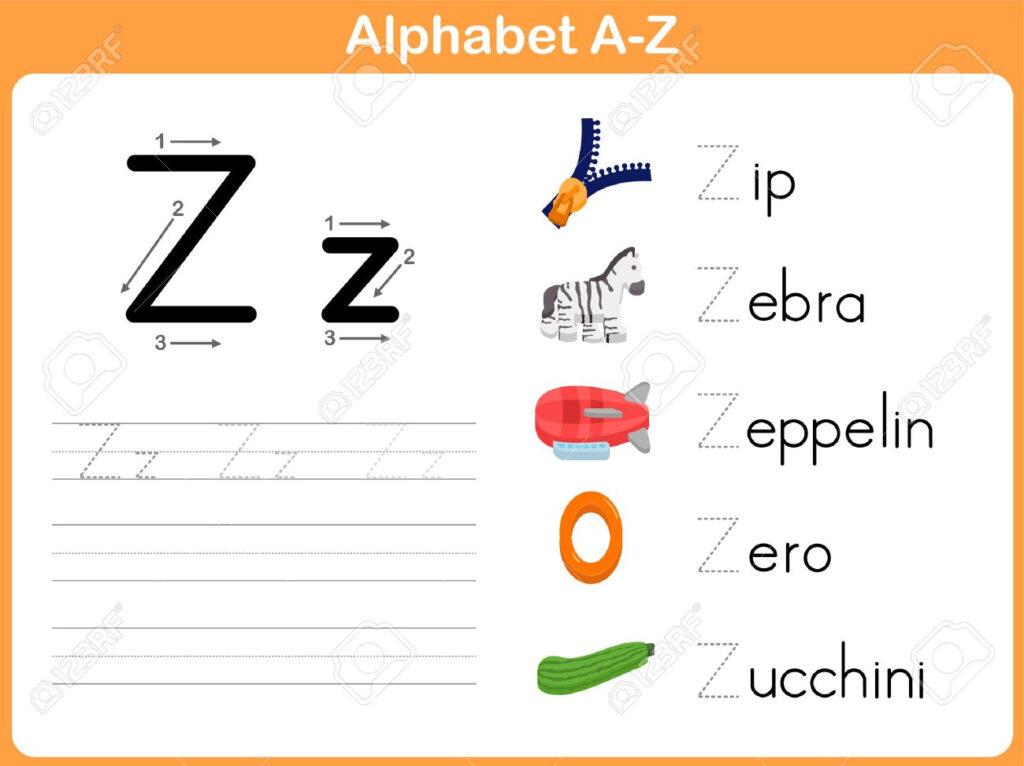 Alphabet Tracing Worksheet: Writing A Z Regarding Alphabet Tracing Vectors