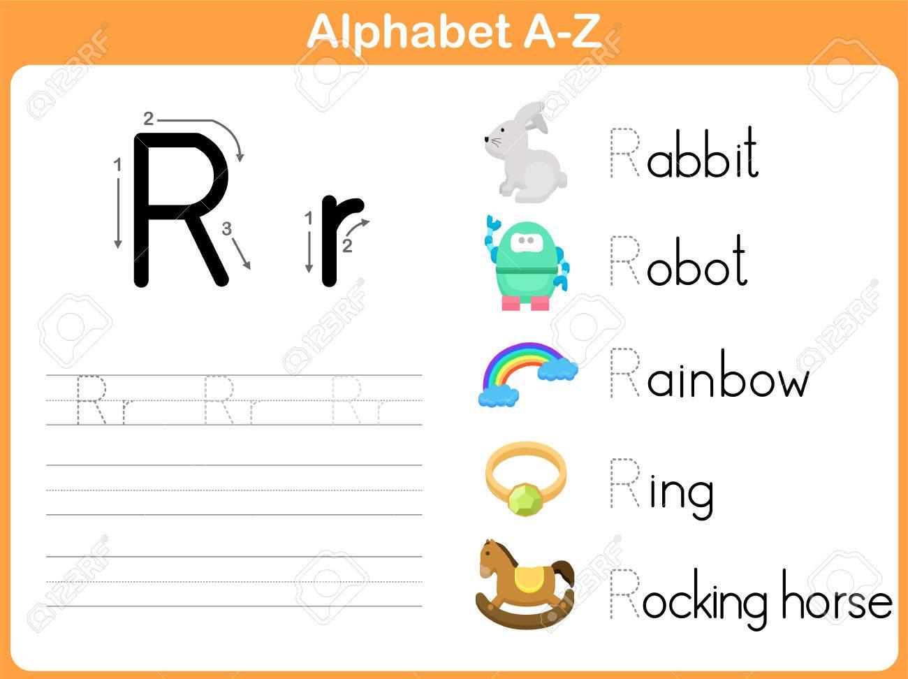 Alphabet Tracing Worksheet: Writing A-Z regarding Alphabet Tracing Vectors