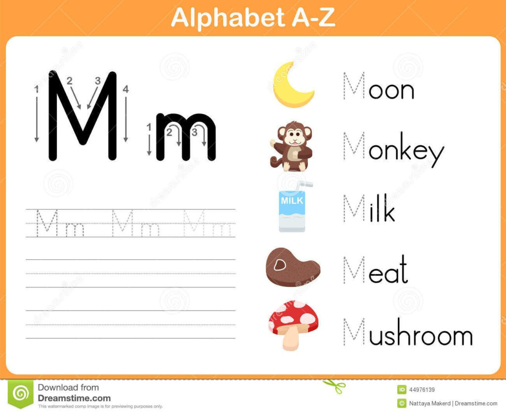 Alphabet Tracing Worksheet: Writing A Z Stock Vector   Image Within Alphabet Tracing Vectors