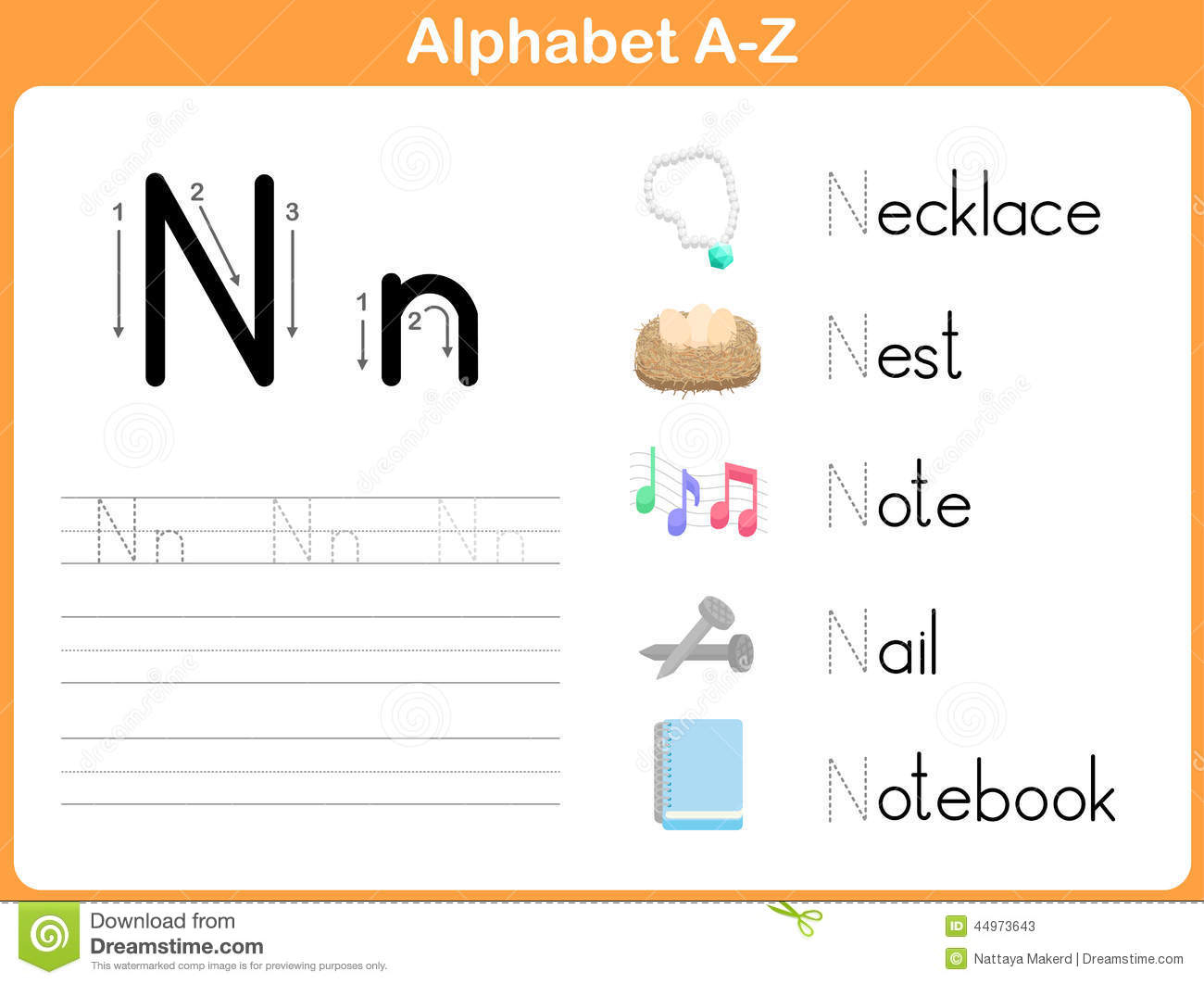 Alphabet Tracing Worksheet: Writing A-Z Stock Vector inside Alphabet Worksheets A Z With Pictures