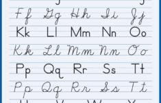 Cursive Alphabet Amazon