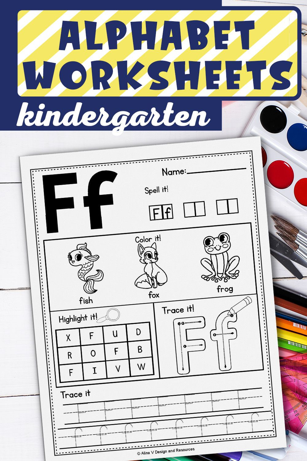 Alphabet Worksheets A-Z, Alphabet Tracing, Letter in Letter Tracing Resources
