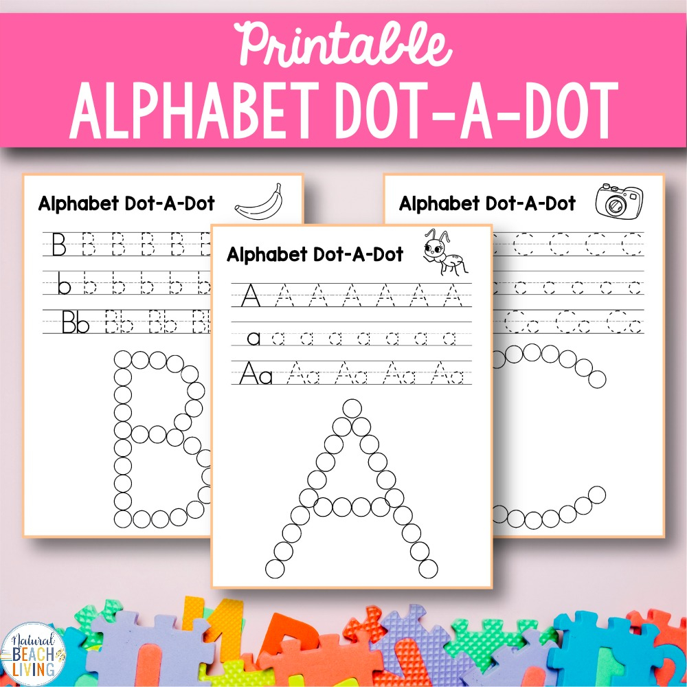 Alphabet Worksheets A-Z - Free Q Tip Painting Printables with Alphabet Worksheets A-Z Free