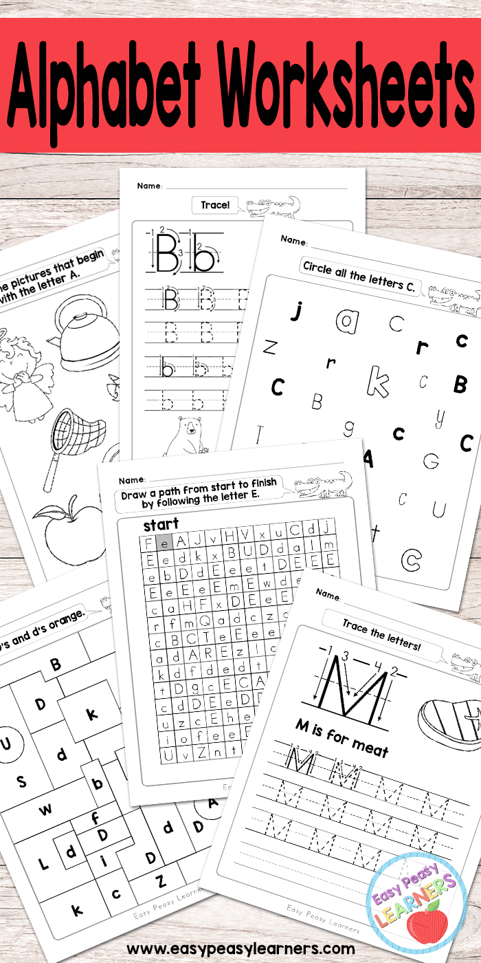 Alphabet Worksheets - Abc From A To Z - Easy Peasy Learners pertaining to Letter T Worksheets Easy Peasy