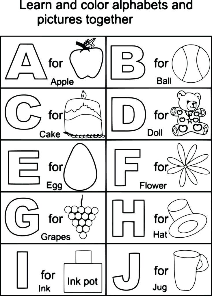 Alphabet Worksheets For Kindergarten Pdf All Of Printable In Alphabet Worksheets Pdf For Kindergarten
