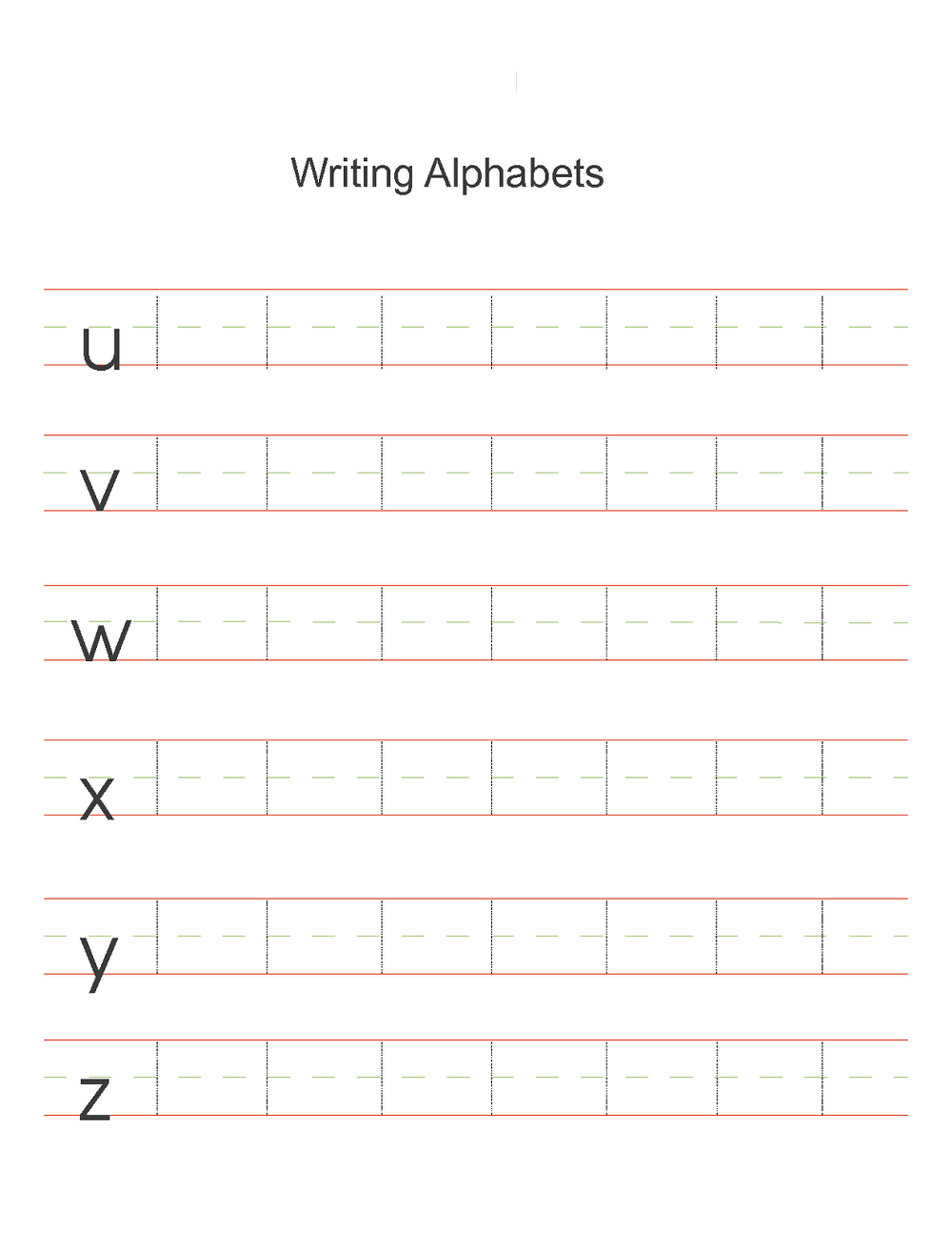 Alphabet Writing Practice Sheets For Preschoolers Worksheet inside Alphabet Handwriting Worksheets Free Printables