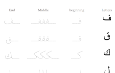 Arabic Letters Tracing Worksheets Pdf