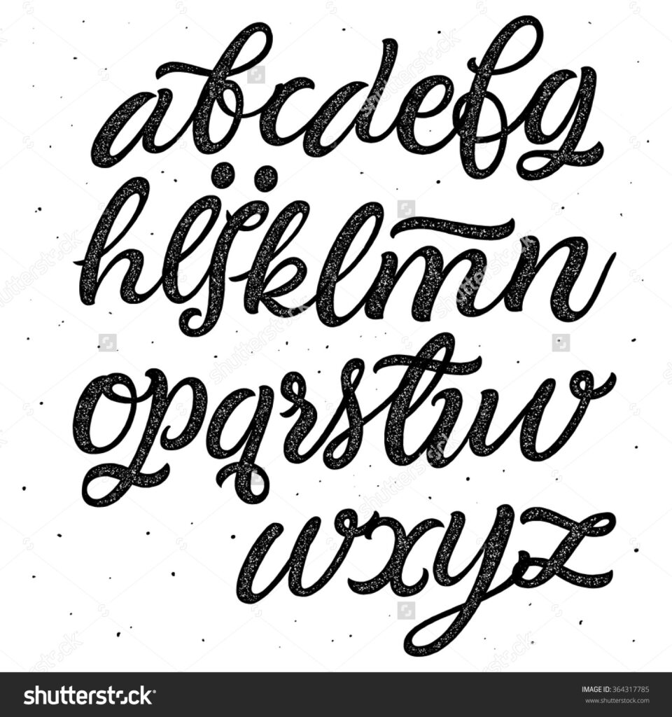 Art Of Lettering Pdf Alphabet Cursive Writing Free Printable
