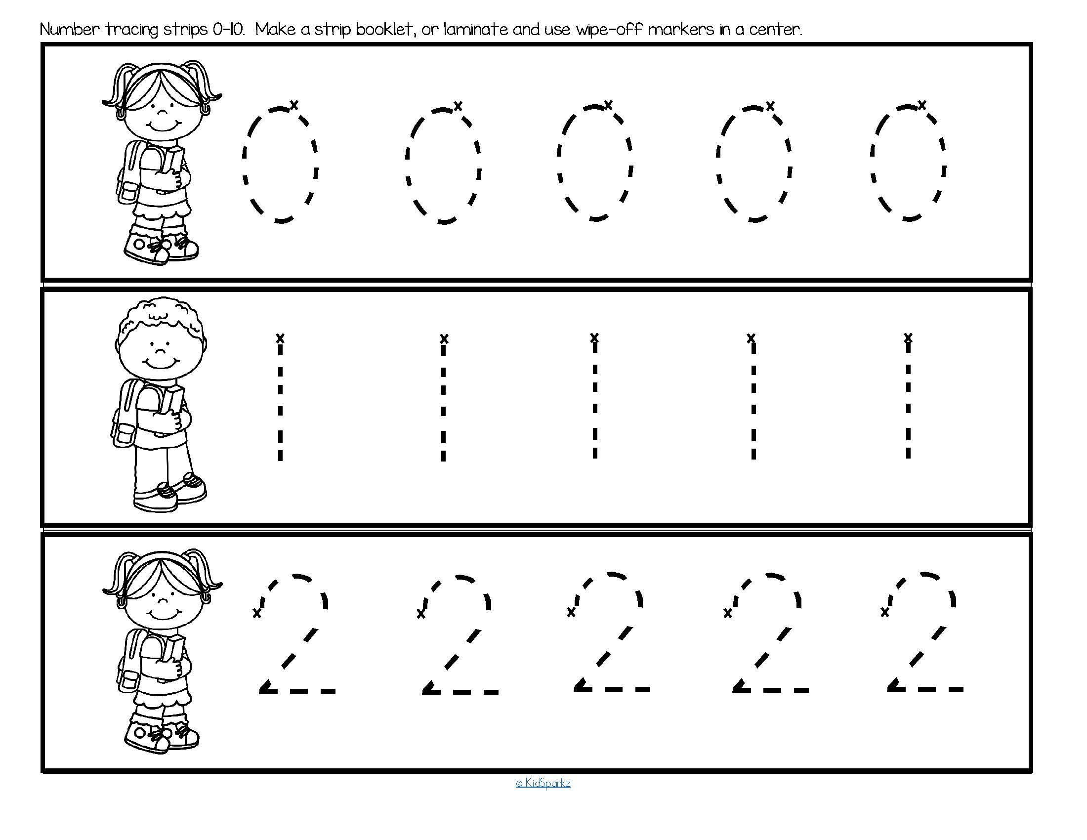 Back To School Number Tracing 0-10 Fine Motor Preschool