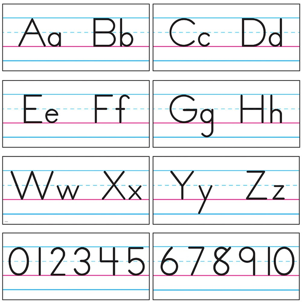 Basic Alphabet Zaner-Bloser Manuscript Bulletin Board Set