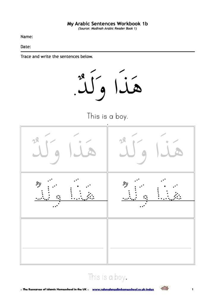 Basic Vocabulary And Short Sentences In Arabic For Kids The